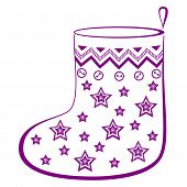 Christmas stocking with stars