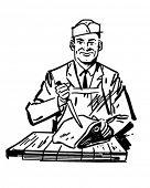 Butcher 2 - Retro Clipart Illustration