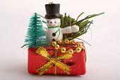 Christmas Decoration On Gift Box