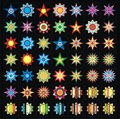 Vector collection of stars