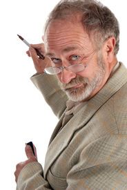 picture of wacky  - Wacky Professor writing on a supposed white board - JPG