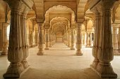 Fort hall columnas de ámbar. Jaipur, India