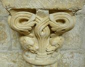 Carved Stone Lintel With Animals