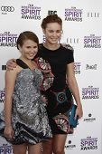 SANTA MONICA, CA - FEB 25: Sammy Boyarsky; Brie Larsen at the 2012 Film Independent Spirit Awards on February 25, 2012 in Santa Monica, California