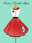 picture of poodle skirt  - Retro poodle skirt - JPG