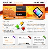 Website Template 4. Color variant 3
