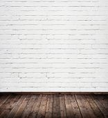 picture of brick block  - interior room with white brick wall - JPG