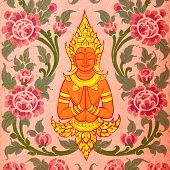 Buddhist Art Paint Style In Public Of Thailand