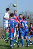 KAPOSVAR, HUNGARY - MARCH 17: Unidentified players in action at the Hungarian National Championship