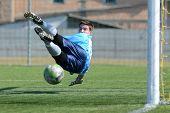 KAPOSVAR, HUNGARY - MARCH 17: Edvard Rusak in action at the Hungarian National Championship under 18