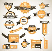 Premium Quality Labels - Collection of retro bi-colours vintage labels with several slogans: Best Ch