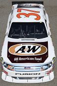 FONTANA, CA. - OCT 9: Sprint Cup Series driver Dave Blaney in the A&W All American Food #37 car during the Pepsi Max 400 practice on Oct 9 2010 at the Auto Club Speedway.