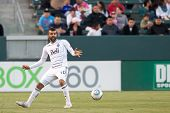 CARSON, CA. - JUNE 1: Vancouver Whitecaps FC D Mouloud Akloul #50  during the MLS game between Vanco