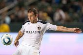 CARSON, CA. - MAY 14: Los Angeles Galaxy F Chad Barrett #11 in during the MLS game between Sporting
