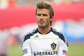 CARSON, CA. - OCT 3: Los Angeles Galaxy M David Beckham #23 before the Chivas USA vs Los Angeles Galaxy game on Oct 3 2010 at the Home Depot Center in Carson, Ca..