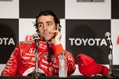 LONG BEACH - APRIL 17: Dario Franchitti driver of the #10 Target Chip Ganassi Racing Honda during th
