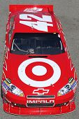 FONTANA, CA. - OCT 9: Sprint Cup Series driver Juan Pablo Montoya in the Target #42 car during the Pepsi Max 400 practice on Oct 9 2010 at the Auto Club Speedway.