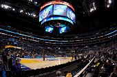 LOS ANGELES - MARCH 10: A view of the Pac-10 Tournament court before the NCAA Pac-10 Tournament bask