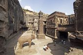 picture of ellora  - Ancient Hindu Temple  - JPG