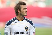 CARSON, CA. - OCT 3: Los Angeles Galaxy M David Beckham #23 before the Chivas USA vs Los Angeles Gal
