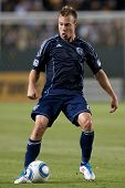 CARSON, CA. - MAY 14: Sporting Kansas City D Michael Harrington #2 in action during the MLS game bet
