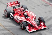LONG BEACH - APRIL 17: Scott Dixon driver of the #9 Target Chip Ganassi Racing Dallara Honda races d