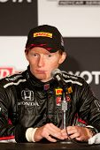 LONG BEACH - APRIL 17: Mike Conway driver of the #27 Andretti Autosport Window World Cares Honda dur