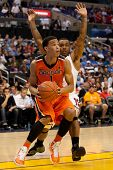 LOS ANGELES - MARCH 10: Oregon State Beavers G Jared Cunningham #1 & Arizona Wildcats G Lamont Jones