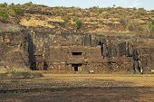 foto of ellora  - Ancient Hindu Temple  - JPG