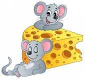 Mouse theme image 2 - vector illustration.