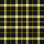 Tartan Plaid. Scottish Pattern In Black And Yellow Cage. Scottish Cage. Traditional Scottish Checker poster