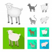 Vector Design Of Breeding And Kitchen Symbol. Collection Of Breeding And Organic Vector Icon For Sto poster