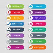 Flat Web Button Design Elements. Simple Design Of Ui Web Buttons poster