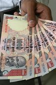 Indian Money In Hand
