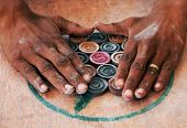 Carrom traditional indian game