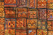 pic of rajasthani  - Rajasthani Indian patchwork wall cloth - JPG