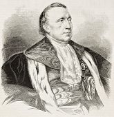 Felix Barthe old engraved portrait (French statesman and politician). Created by Chenu after Hesse,