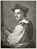 Постер, плакат: Андреа дель Сарто старый гравированном портрете итальянский художник Созданный Bocourt и Guillau