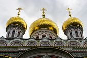 Onion-shaped Gold-plated Domes Of Shipka Memorial Church Or Memorial Temple Of The Birth Of Christ B poster