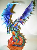 Colorful Fire Breathing Dragon