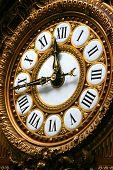 Detail Of Clock In Orsay Museum