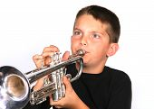 Child Blowing Trumpet