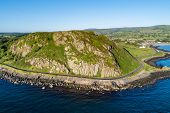 Northern Ireland, Uk. Antrim Coast Road A.k.a Causeway Coastal Route Near Ballygalley Head And Resor poster