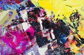 óleo de cores misturadas, abstrato