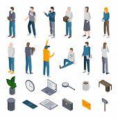 Unemployed Icons Set. Isometric Set Of Unemployed Vector Icons For Web Design Isolated On White Back poster