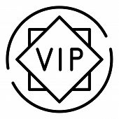 Vip Sign Icon. Outline Vip Sign Vector Icon For Web Design Isolated On White Background poster