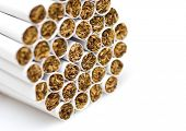 cigarets on white background