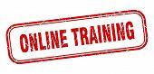 Online Training Stamp. Online Training Square Grunge Sign. Online Training poster