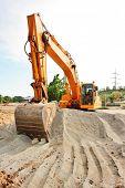 BIG Excavator at a construction site