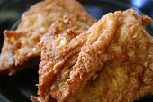 stock photo of fried chicken  - close - JPG